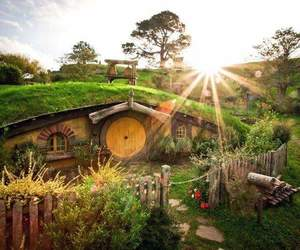 hobbit, nature, and house image