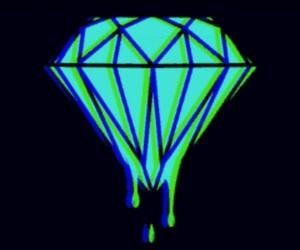 blue, diamond, and wallpaper image
