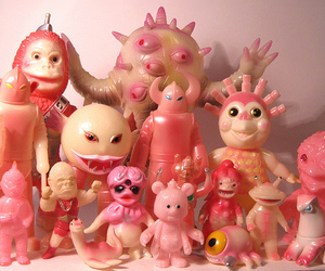 pink and monsters image