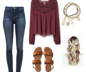 outfit, sandals, and style image