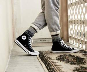 black, chuck taylor, and classic image
