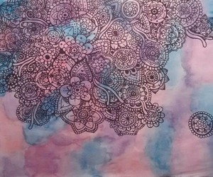 art, watercolor, and mandala image
