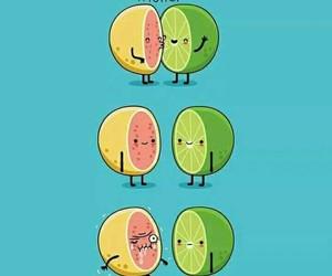 acid, kiss, and lemon image