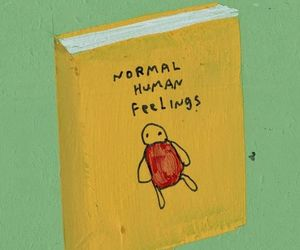 book, feelings, and human image