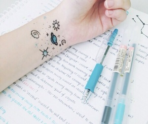 aesthetic, blue, and pen image