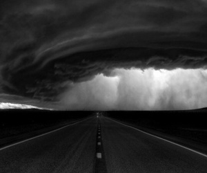 nature, road, and clouds image