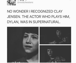 supernatural, clay jensen, and 13 reasons why image