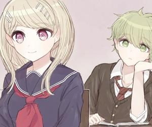 drv3, kaede akamatsu, and rantaro amami image