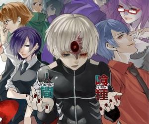 anime, kaneki ken, and touka kirishima image