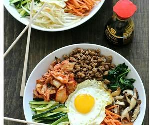 food, yummy, and kimchi image