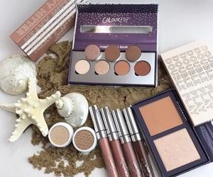 makeup, sand, and colourpop image