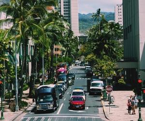beach, city, and hawaii image