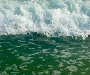 green, tide, and ocean image