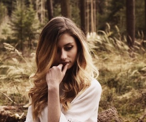 curl, forest, and girl image
