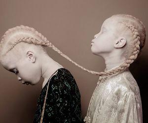 art, albino, and girls image