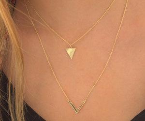 etsy, geometric jewelry, and chevron necklace image