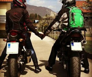 black, motorcycle, and love image