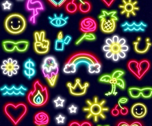 pattern, wallpaper, and neon image