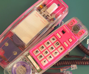 etsy, pink and purple, and vintage telephone image