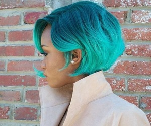blue, hair, and short hair image