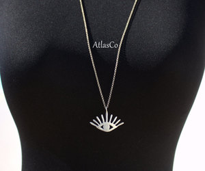 etsy, good luck, and silver evil eye image