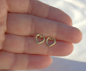 etsy, gold earrings, and stud earrings image