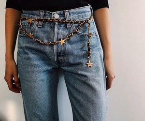 fashion, jeans, and stars image