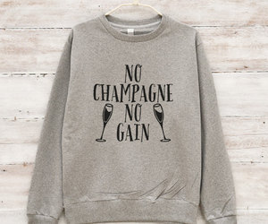 champagne, fashion, and christmas sweater image