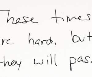 quote, hard, and pass image