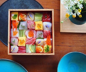 sushi, japan, and food image