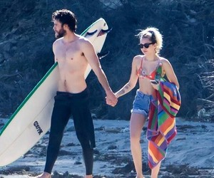 couple, beach, and famous image