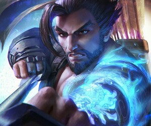 art, fantasy, and hanzo image
