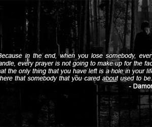 damon, quotes, and the vampire diaries image