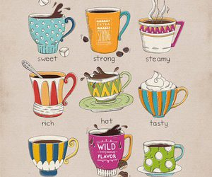 coffee, sweet, and cup image