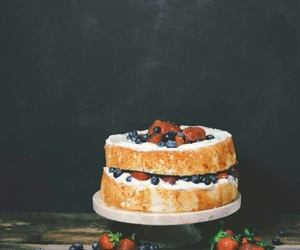cake, berries, and delicious image