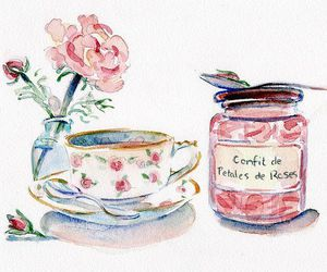 rose, flowers, and tea image