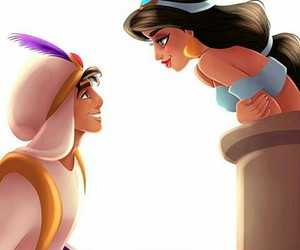 aladdin, disney, and jasmine image