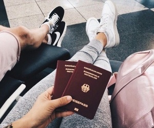 passport, travel, and airport image