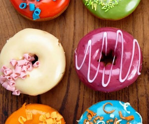 donuts, food, and colors image