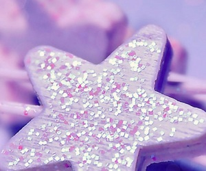 stars, glitter, and purple image