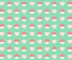 green, heart, and pokemon image