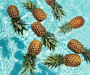 nature, water, and pineapples image