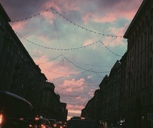 lights, travel, and twilight image