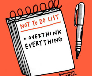 overthinking and list image