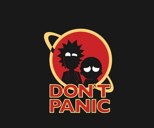 don't panic, rick and morty, and rick sanchez image
