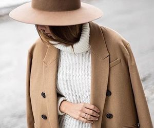 fashion, coat, and hat image