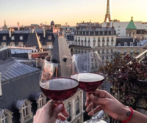 girl, paris, and drink image