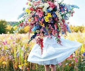 flowers, dress, and nature image