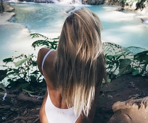 summer, beach, and blonde image