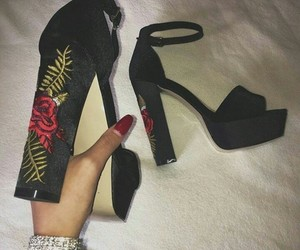 shoes, black, and nails image